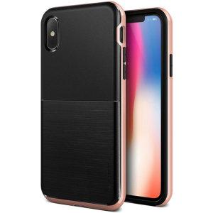Protégez votre iPhone XS à l'aide de la superbe coque VRS Design High Pro Shield en coloris or rose. Conçue avec précision et à partir d'un matériau résistant à double épaisseur, celle-ci reste néanmoins mince et suffisamment protectrice pour votre smartphone. Sa structure principale est rigide et est équipée d'un bumper élégant offrant ainsi à votre iPhone XS une superbe finition bicolore.