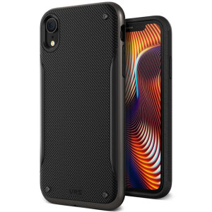 Protect your Apple iPhone XR with this precisely designed high pro shield series case in metal black from VRS Design. Made with tough dual-layered yet slim material, this hardshell body with a sleek bumper features an attractive two-tone finish.