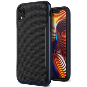 Protect your Apple iPhone XR with this precisely designed high pro shield series case in deepsea blue from VRS Design. Made with tough dual-layered yet slim material, this hardshell body with a sleek bumper features an attractive two-tone finish.