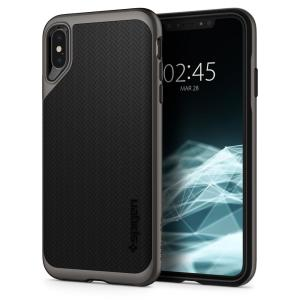 The Spigen Neo Hybrid in gunmetal colour is the new leader in lightweight protective cases. Spigen's new Air Cushion Technology reduces the thickness of the case while providing optimal corner protection for your iPhone XS Max.