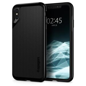 The Spigen Neo Hybrid in jet black colour is the new leader in lightweight protective cases. Spigen's new Air Cushion Technology reduces the thickness of the case while providing optimal corner protection for your iPhone XS Max.