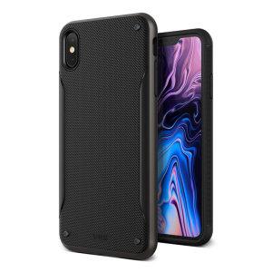 Schützen Sie Ihr Apple iPhone XS Max mit dieser präzise gestalteten High-Pro-Schild-Serie aus schwarzem Metall von VRS Design. Hergestellt aus strapazierfähigem, zweilagigem und dennoch schlankem Material, zeichnet sich diese Hartschalenkarosserie mit einem schlanken Stoßfänger durch eine attraktive zweifarbige Oberfläche aus.
