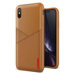Protect your iPhone XS Max with this precisely designed  case from VRS Design. Made from a leather-style material, the Leather Fit Label case keeps your iPhone safe, slim and stylish.