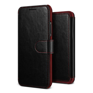 The VRS Design Dandy Wallet Case in black for the iPhone XS Max comes complete with card slots, a large document pocket and is made with a luxurious leather-style material for a classic, prestige and professional look.