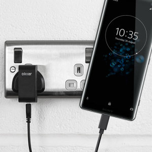 Charge your Sony Xperia XZ3 and any other USB device quickly and conveniently with this compatible 2.5A high power USB-C UK charging kit. Featuring a UK wall adapter and USB-C cable.