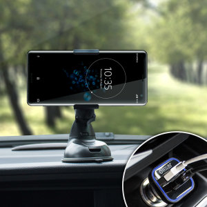 Essential items you need for your smartphone during a car journey all within the Olixar DriveTime In-Car Pack. Featuring a robust one-handed phone car mount and car charger with an additional USB port for your Sony Xperia XZ3.