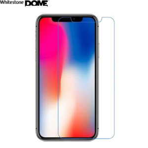 The Whitestone Dome Glass screen protector for iPhone XS Max uses a UV lamp with a proprietary UV adhesive installation to ensure a total and perfect fit for your device. Featuring 9H hardness for absolute protection, as well as 100% touch sensitivity.