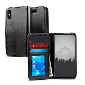The Zizo Pouch Wallet Folio Case in black for the iPhone XS Max provides exceptional protection in a slim and sleek package. Also featuring a storage pocket for your credit card, ID or cash.