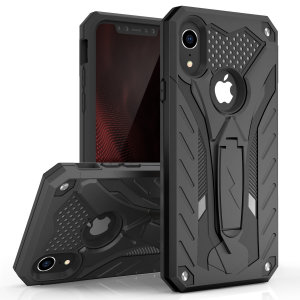 Equip your iPhone XR with military grade protection and superb functionality with the ultra-rugged Static case in black from Zizo. Coming complete with a handy kickstand for viewing media in both portrait and landscape.