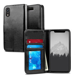 The Zizo Pouch Wallet Folio Case in black for the iPhone XR provides exceptional protection in a slim and sleek package. Also featuring a storage pocket for your credit card, ID or cash.