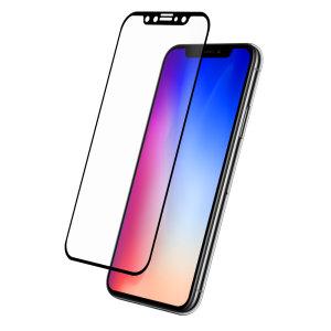 Das 3D Glass von Eiger, das den ultimativen Bildschirmschutz für das iPhone XS bietet, besteht aus hochwertigem Echtglas mit abgerundeter Kante und Splitterschutzfolie.