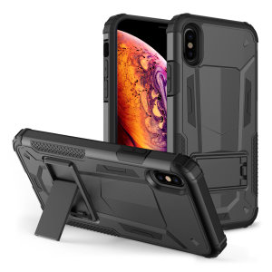 Protect your iPhone XS Max from bumps and scrapes with this black Zizo Hybrid Transformer case. Comprised of an inner TPU case and an outer impact-resistant shell, the Zizo Hybrid Transformer Case offers a sturdy  protection for your iPhone XS Max.