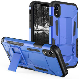 Protect your iPhone XR from bumps and scrapes with this blue / black Zizo Hybrid Transformer case. Comprised of an inner TPU case and an outer impact-resistant shell, the Zizo Hybrid Transformer Case offers a sturdy and robust protection for your iPhone X