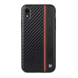 The handmade, premium red Carbon case by Meleovo integrates a TPU edge, PC housing and leather exterior to provide your iPhone XR with shock absorbing protection and an exquisite look and feel. Featuring a built-in plate for magnetic car holders.