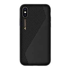 The handmade, premium Racing I case by Meleovo integrates a TPU edge, PC housing and leather exterior to provide your iPhone XS with shock absorbing protection and an exquisite look and feel. Featuring a built-in plate for magnetic car holders.