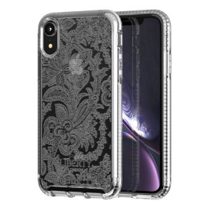 Make your iPhone XR stand out with the Tech21 Pure Design clear case. Designed by Liberty London, this case features an eye-catching finish. Despite being ultra-thin and lightweight, the case protects your device from drops of up to 10 feet!