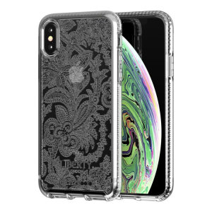 Make your iPhone XS stand out with the Tech21 Pure Design clear case. Designed by Liberty London, this case features an eye-catching finish. Despite being ultra-thin and lightweight, the case protects your device from drops of up to 10 feet!