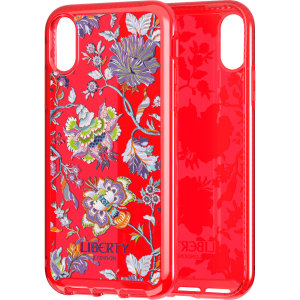 Make your iPhone XS Max stand out with the Tech21 Pure Print Christelle Red case. Designed by Liberty London, this case features an eye-catching finish. Despite being ultra-thin and lightweight, the case protects your device from drops of up to 10 feet!