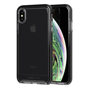 Tech21 Evo Check iPhone XS Max Hülle - Smokey / Schwarz