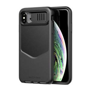 Protect your iPhone XS Max and keep it looking as good as new with the Evo Max tough case in black by Tech21. Despite being lightweight, the Evo Max case protects your device from drops of up to 14 feet, while the lens cover keeps your camera safe & clean
