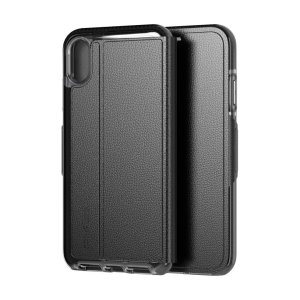The Evo Wallet case by Tech21 carefully surrounds your iPhone XR with a slim-fitting see-through back case and a tactile folio cover. The Evo Wallet case comes with 2 concealed slots for your debit, credit or personal ID cards.