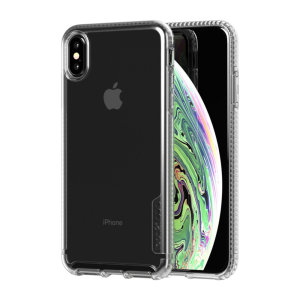 Tech21 Pure Clear case allows you to flaunt the natural beauty of your iPhone XS Max, while keeping it well protected from scratches, bumps and drops of up to 10ft. It also offers an ulta-thin and lightweight design, which looks good in any setting.