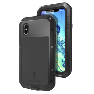 Protect your iPhone XS with one of the toughest and most protective cases on the market, ideal for helping to prevent possible damage from water and dust - this is the black Love Mei Powerful Protective Case.