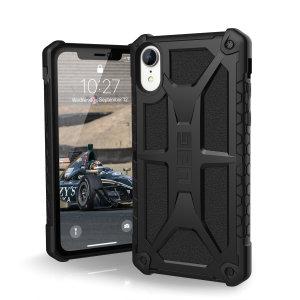 La coque UAG Monarch en coloris noir est très probablement la reine des coques de protection pour iPhone XR. La coque UAG Monarch est dotée de 5 couches de protection à base de matériaux de qualité supérieure, votre smartphone est ainsi en parfaite sécurité tout en ayant un look exceptionnel.