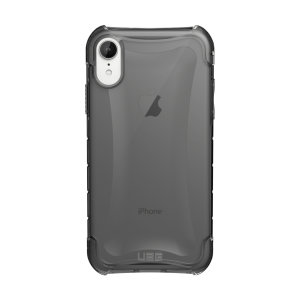 The Urban Armour Gear Plyo semi-transparent tough case in ash grey for the iPhone XR features reinforced Air-Soft corners and an optimised honeycomb structure for superior drop and shock protection.