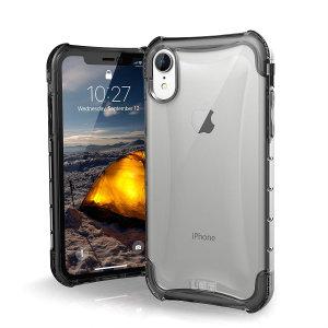 Die Urban Armor Gear Plyo ist eine halbtransparente Hartschalenhülle für das iPhone XR und verfügt über verstärkte Air-Soft-Ecken und eine optimierte Wabenstruktur für hervorragenden Fall- und Stoßschutz