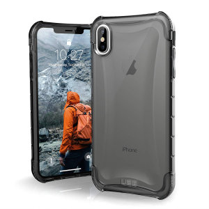 The Urban Armour Gear Plyo semi-transparent tough case in ash grey for the iPhone XS Max features reinforced Air-Soft corners and an optimised honeycomb structure for superior drop and shock protection.