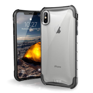 The Urban Armour Gear Plyo semi-transparent tough case in ice for the iPhone XS Max features reinforced Air-Soft corners and an optimised honeycomb structure for superior drop and shock protection.