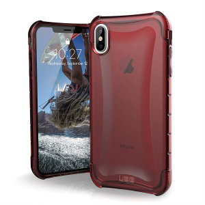 The Urban Armour Gear Plyo semi-transparent tough case in crimson for the iPhone XS Max features reinforced Air-Soft corners and an optimised honeycomb structure for superior drop and shock protection.