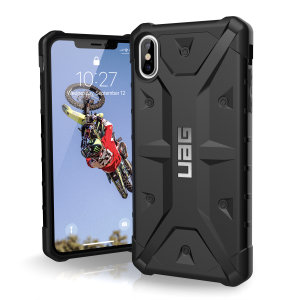 The Urban Armour Gear Pathfinder black rugged case for the iPhone XS Max features a classic tough-looking, composite design with a soft impact-absorbing core and hard exterior that provides superb protection in all situations.