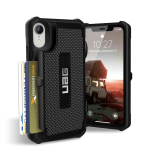 Equip your iPhone XR with extreme, military-grade protection and storage for up to 4 cards with the Trooper Tough Wallet case in black from UAG. Impact resistant and functional this is the ideal way of protecting your phone and providing storage.