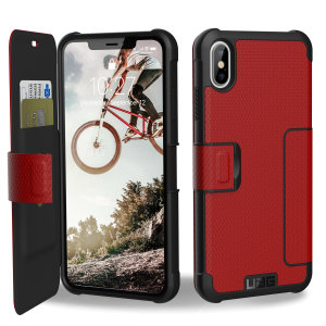 Equip your iPhone XS Max with extreme, military-grade protection and storage for cards with the Metropolis Rugged Wallet case in magma from UAG. Impact and water resistant this is the ideal way of protecting your phone and providing card storage.