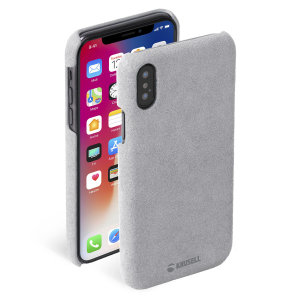 Krusell's Broby Cover in grey combines Nordic chic with Krusell's values of sustainable manufacturing for the socially-aware iPhone XS owner who wants an elegant genuine leather accessory.