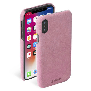 Krusell's Broby Cover in pink combines Nordic chic with Krusell's values of sustainable manufacturing for the socially-aware iPhone XS owner who wants an elegant genuine leather accessory.