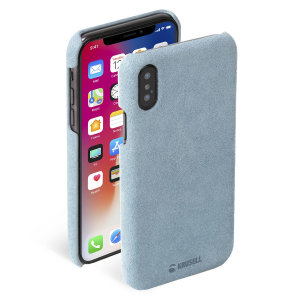 Krusell's Broby Cover in blue combines Nordic chic with Krusell's values of sustainable manufacturing for the socially-aware iPhone XS owner who wants an elegant genuine leather accessory.