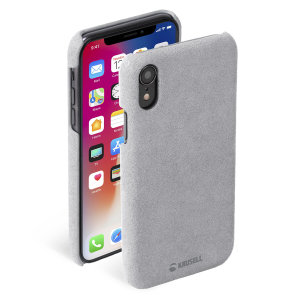 Krusell's Broby Cover in grey combines Nordic chic with Krusell's values of sustainable manufacturing for the socially-aware iPhone XR owner who wants an elegant genuine leather accessory.