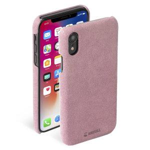 La coque Krusell Broby en coloris rose allie chic nordique et fabrication durable. Elle se destine à tout possesseur d'un iPhone XR souhaitant protéger son smartphone durablement et avec élégance à l'aide d'une finition cuir de haute qualité.