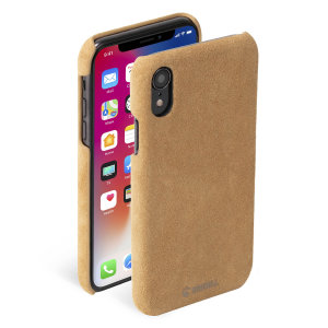 Krusell's Broby Cover in cognac combines Nordic chic with Krusell's values of sustainable manufacturing for the socially-aware iPhone XR owner who wants an elegant genuine leather accessory.