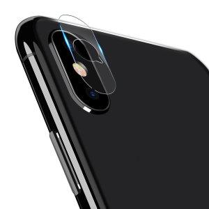 Dit 2-pack ultradun geharde glazen achtercamera beschermers voor de iPhone XS Max van Olixar biedt taaiheid en superieure helderheid voor uw fotografie in één pakket.