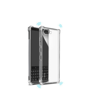 Custom moulded for the BlackBerry Key2, this solid clear IMAK case provides slim fitting and durable protection against damage.