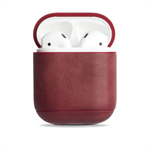 Add superior protection to your Apple AirPods case  in red with this elegant, classic and stylish genuine leather cover from Krusell. The cover allows full access to your AirPods and adds premium protection for a peace of mind.