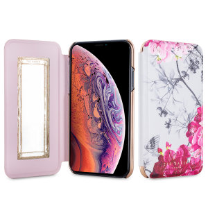 Ever wanted to check how you're looking on the go? With the Babylon Ted Baker Mirror Folio case for iPhone XS, you can do just that thanks to a concealed mirror on the inside of the case's flip cover. This slimline case also offers excellent protection.