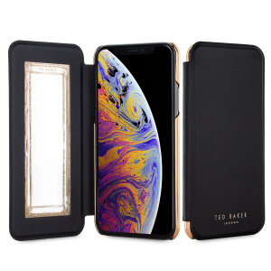 Ever wanted to check how you're looking on the go? With the Shannon Black Ted Baker Folio case for iPhone XS Max, you can do just that thanks to a concealed mirror on the inside of the case's flip cover. This slimline case also offers excellent protection