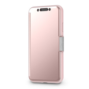 The Moshi StealthCover for the iPhone XR in Champagne Pink is a unique folio case with a Clear View cover that allows you to see who's calling, view notifications and see the time and date, all without opening your case.