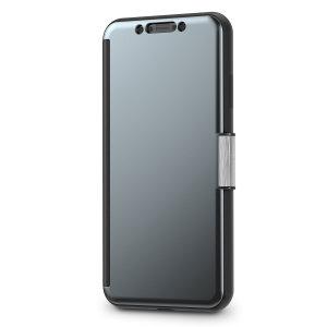 Das Moshi StealthCover für das iPhone XS Max in Gunmetal Grey ist eine einzigartige Folio-Hülle mit einem Clear View Cover, mit dem Sie sehen können, wer anruft, Benachrichtigungen einsehen und die Uhrzeit und das Datum sehen können, ohne Ihre Tasche zu öffnen.