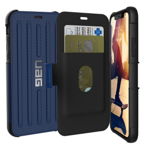 Equip your iPhone XS with extreme, military-grade protection and storage for cards with the Metropolis Rugged Wallet case in blue from UAG. Impact and water resistant this is the ideal way of protecting your phone and providing card storage.